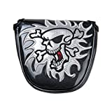 New Skull Mallet Putter Cover Magnetic Closure Head Cover Pu Leather Headcover