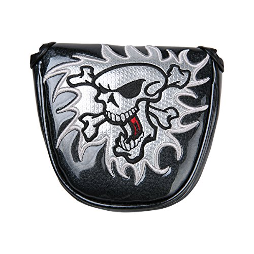 Golf Skull Mallet Putter Cover Headcover For Scotty Cameron Taylormade Odyssey 2ball (Black)