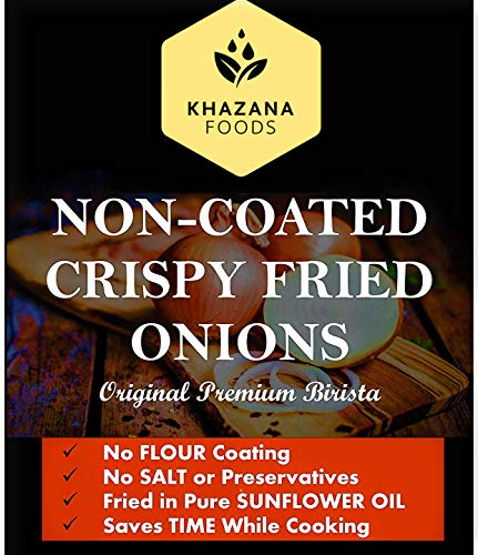 Non-Coated Crispy Fried Onions -One Pound (Now Available in 3 different sizes - half, one & two pounds)