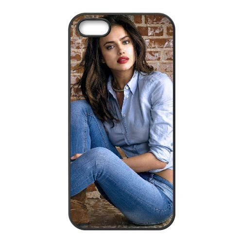 Irina Shayk Wide coque iPhone 4 4S cellulaire cas coque de téléphone cas téléphone cellulaire noir couvercle EEEXLKNBC25948