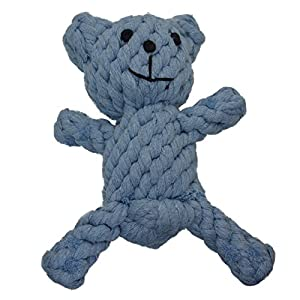 Zenify Puppy Toy Cotton Rope Bear Chew – for Small to Medium Pet Teething Plush Dog Owners Click on image for further info.