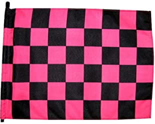 """NEW 7 ft no Mounting Hardware Pink//Black Checker 1 Pc 1//4/"""" Whip Flag Pole"""