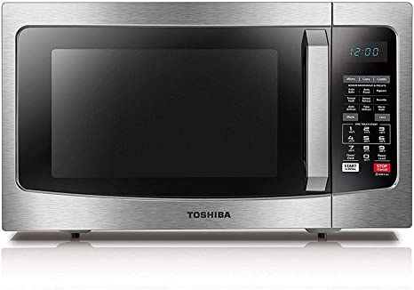Toshiba EC042A5C-SS Microwave Oven with Convection Function Smart Sensor and LED Lighting, 1.5 cu. ft./1000W, Stainless Steel