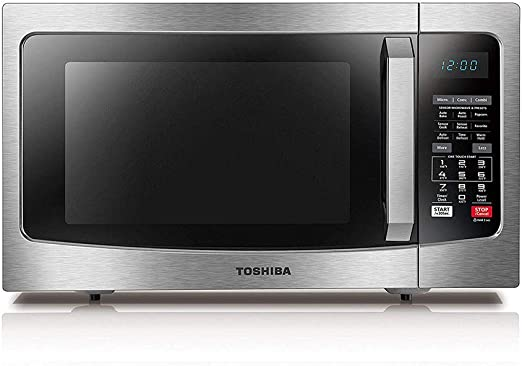 Amazon.com: Toshiba EC042A5C-SS Countertop Microwave Oven with Convection,  Smart Sensor, Sound On/Off Function and LCD Display, 1.5 Cu.ft, Stainless  Steel: Kitchen & Dining