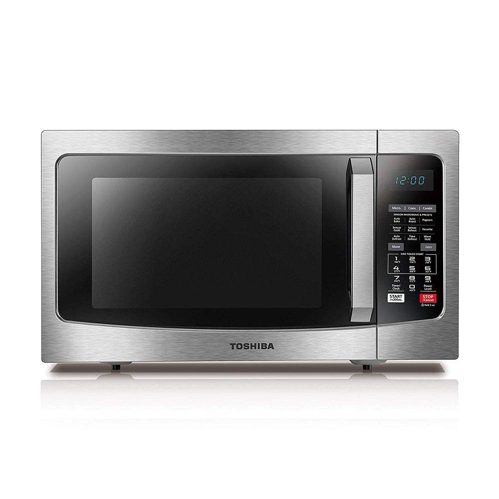 Toshiba EC042A5C-SS Microwave Oven with Convection Function Smart Sensor and LED Lighting 1.5 cu. ft./1000W Stainless Steel