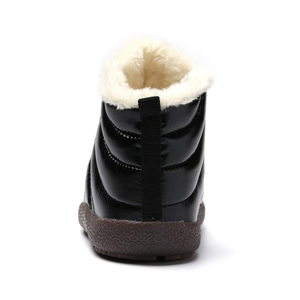 Z.SUO Kids Snow Boots Winter Anti-Slip Fur Lined Warm Shoes Outdoor Toddler//Little Kid//Big Kid