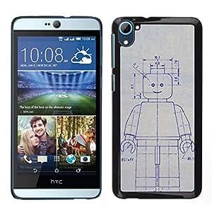EJOY---Cubierta de la caja de protección para la piel dura ** HTC Desire D826 ** --Robot de la máquina de dibujo Sketch Ai Arte Futuro