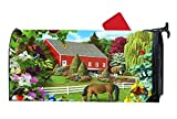 Customized Magnetic Mailbox Cover Home Garden MailBox Wraps Standard Vinyl - Flowers Outdoor Butterfly Horses Farm