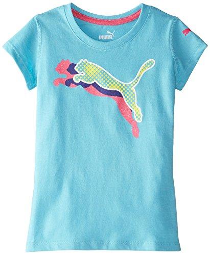 PUMA Little Girls' Big Cat T-Shirt, Faster Blue, 4
