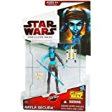 Star Wars The Clone Wars Aayla Secura CW40 - 3-3/4 Inch Scale Action Figure