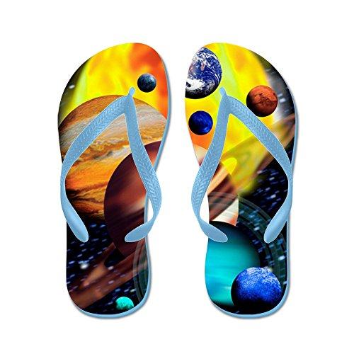 CafePress Planets - Flip Flops, Funny Thong Sandals, Beach Sandals Caribbean Blue
