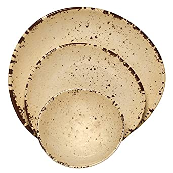 Melange 100% Melamine Rustic Egg Collection 36 Piece Dinnerware (Set of 12)  sc 1 st  Amazon.com & Amazon.com: Melange 100% Melamine Rustic Egg Collection 36 Piece ...
