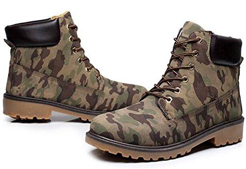 DADAWEN Unisex Adults' Outdoor Hiking Trekking Military Combat Boots Camouflage (Men) kqeIa52Du