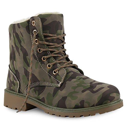 Herren Damen Worker Flandell Unisex Warm Boots Khaki Camouflage Stiefeletten Stiefelparadies Gefüttert Übergrößen qw5p65