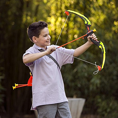 cb3997b7f07 Liberty Imports Light Up Archery Bow and Arrow Toy Set for Kids with 3  Suction Cup