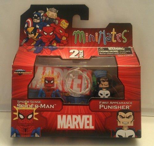 (Marvel 2012 Minimates Spiderman & Punisher)