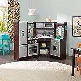 KidKraft Ultimate Corner Play Kitchen with Lights & Sounds, Espresso