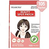 MEAROSA Acne Pimple Healing Patch 105 dots - Absorbing cover, Hydrocolloid Blemish Spot Patch Beauty Spot Patch Three Size,Tea Tree Oil, All skin type (105 Patches)