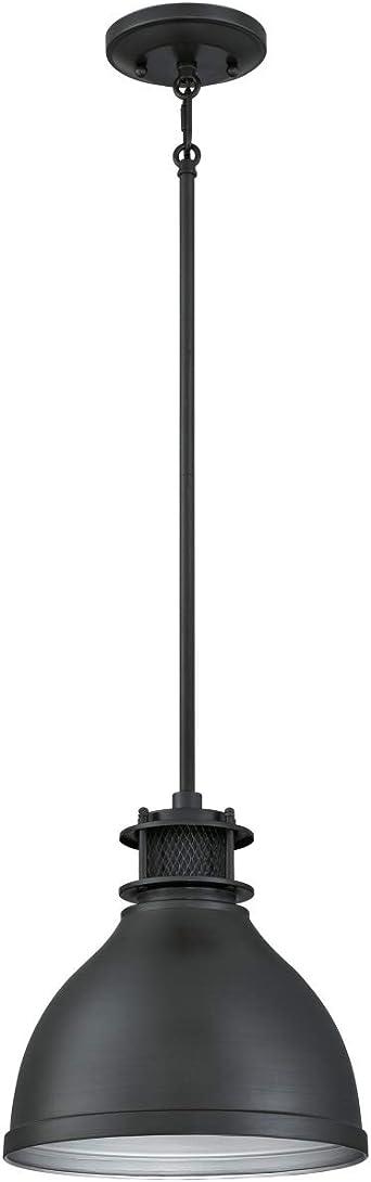 Westinghouse Lighting One-Light Indoor Pendant Lámpara de Techo, Gun metal mate, 109 cm: Amazon.es: Iluminación