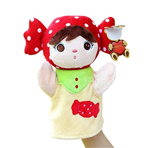 Remeehi Cute Baby Girl Hand Puppet People for Kids Plush Toys Story Telling Props Educational Toys 7#