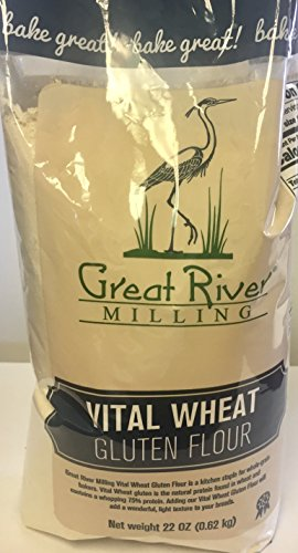 Great River Milling Vital Wheat Gluten Flour, 22 Ounce (Pack of 4)