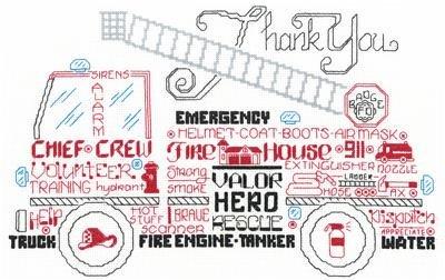 Let's Appreciate Firemen Cross Stitch Chart