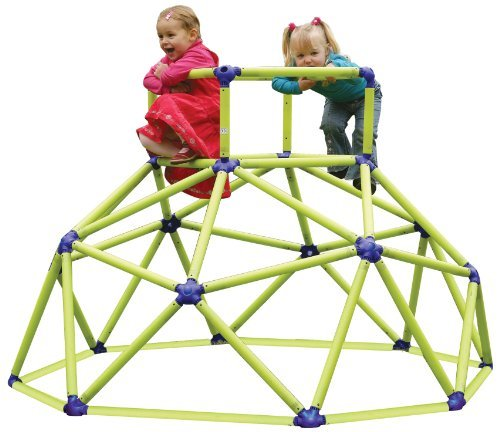 (Eezy Peezy Monkey Bars Climbing Tower - Active Outdoor Fun for Kids Ages 3 to 6 Years Old, Green/Blue -)