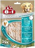 8in1 Delights Dental Twisted Sticks -  Sticks torsadés à Mâcher garnis de poulet pour Chien - 35 pièces