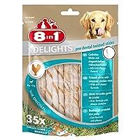 8 in1 Delights Twist Dental Sticks for dogs 2-12 kg, 35-Piece