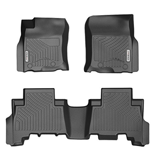 YITAMOTOR Floor Mats Compatible for 2013-2018 Toyota 4Runner / 2014-2018 Lexus GX, Includes 1st & 2nd Row All Weather Toyota Lexus Floor Liners