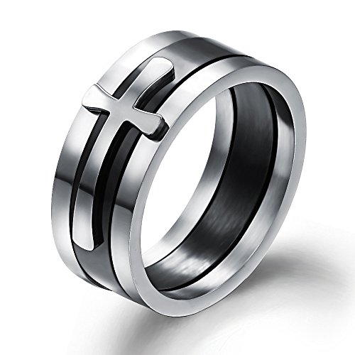 Stainless Steel 3 in 1 Ring Set (Silver/Blue) - 2