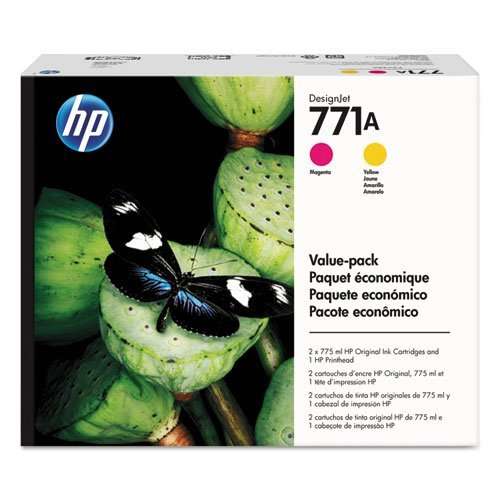 nta/Yellow Printhead and 771A Original Ink Cartridges Value Pack ()