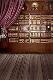 GladsBuy Neat And Clean Bookcase 6' x 9' Digital Printed Photography Backdrop KA Series Background KA008