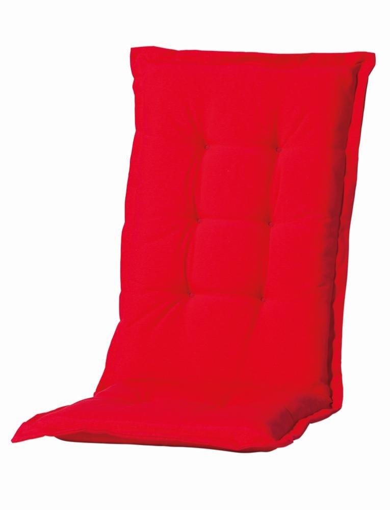 6 Stück MADISON Dessin Panama Auflage für Klappsessel, Gartenstuhl Hochlehner Auflage 75% Baumwolle, 25% Polyester, 123 x 50 x 8 cm, in rot