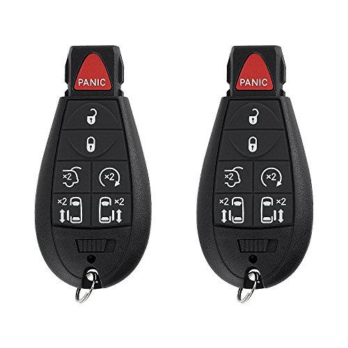 - SaverRemotes 7 Button Key Fob Compatible for 2008-2015 Chrysler Town and Country, 2008-2014 Dodge Grand Caravan