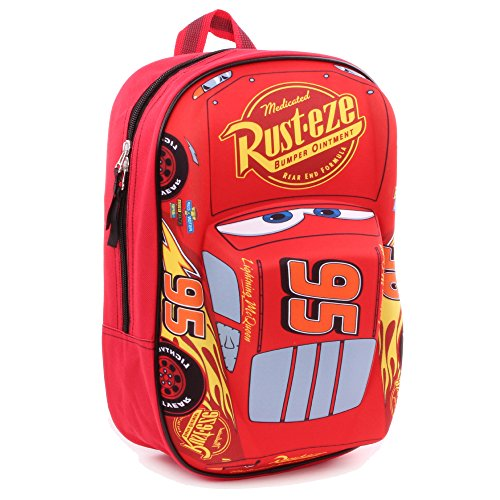 Disney 760-8462 1 x Lightning McQueen 'Piston Cup Champion' 3D Effect Car 31cm Backpack -