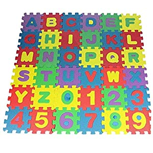 36Pcs DIY Puzzle Play Mat EVA Foam Baby Soft Developing Floor Pad Crawling Rugs Digital and Letter Play Mat for Babies