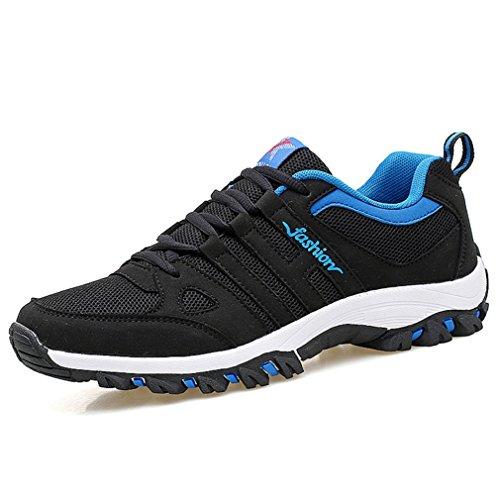 LFEU Homme Chaussure de Sport Sneakers Légère Cuir Maille PU Running Course Basket Sport Voyage Moderne Noir iNXzC