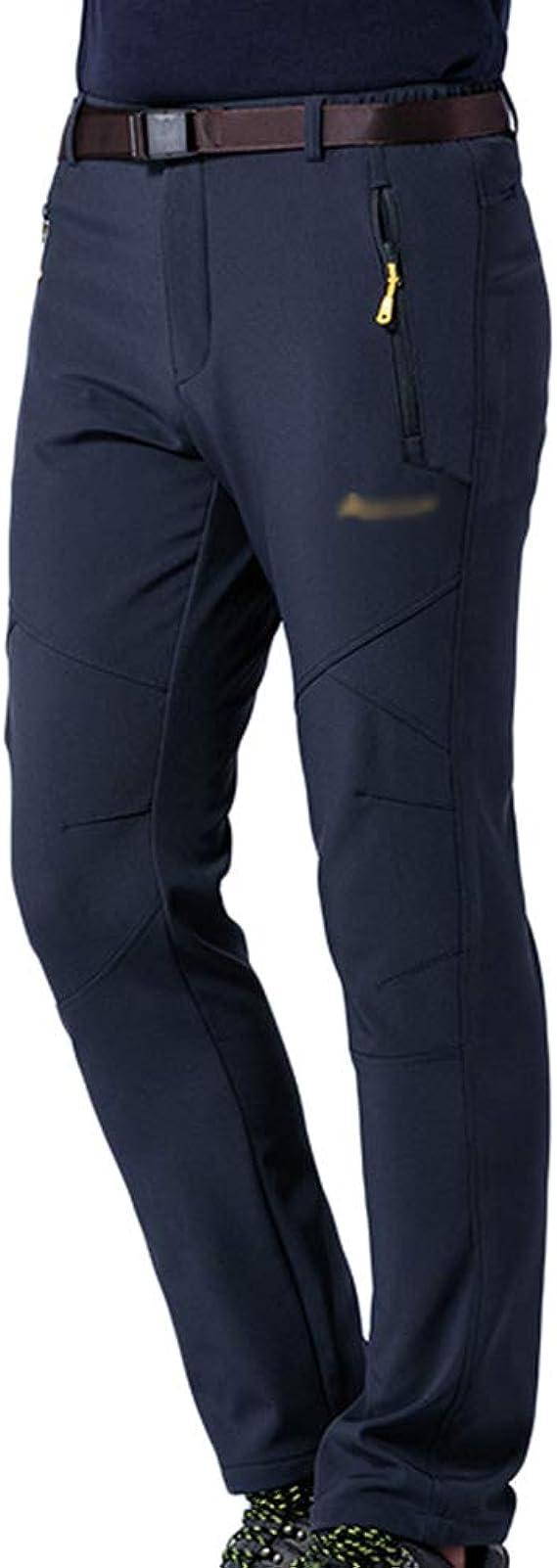Tookang Pantalones De Trekking Softshell Pantalones Impermeables Resistente Pantalones De Escalada Ropa Deportiva Pareja Lana Transpirable