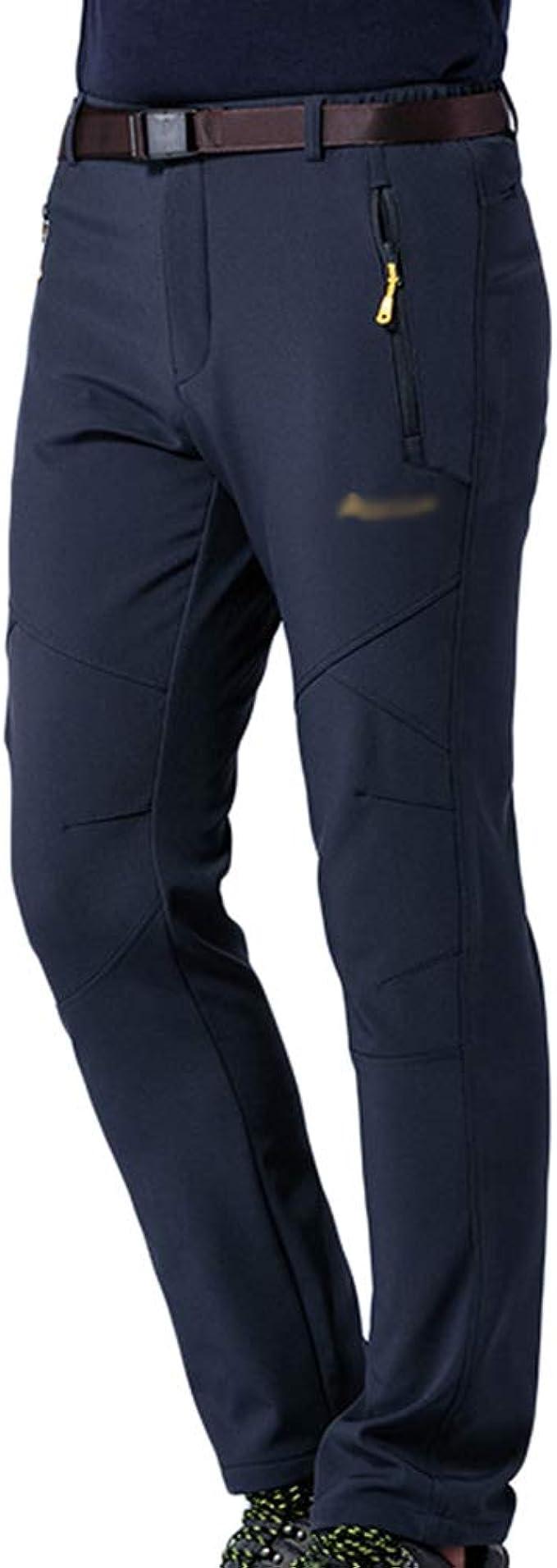 antiabrasione impermeabili caldi antivento pantaloni da uomo sportivi pantaloni da trekking autunno//inverno traspiranti Gitvienar foderati