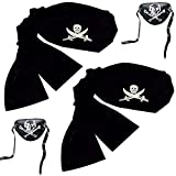 : Jacobson Hat Company Pirate Headwrap Bandana Hat (Pirate Kit)