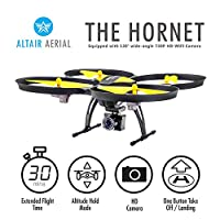 Altair 818 Hornet Beginner FPV Camera Drone RC Quadcopter w/ Wide Angle 2MP Camera, Altitude Hold, 15 Min Flight, 3 Skill Lvls, FPV, For Indoors & Out from ALTAIR INC
