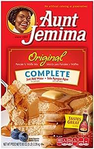 Aunt Jemima Pancake & Waffle Mix, Original Complete, 50 Servings Box