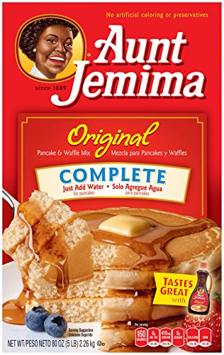 Aunt Jemima Pancake & Waffle Mix, Original Complete, 50 Servings Box]()
