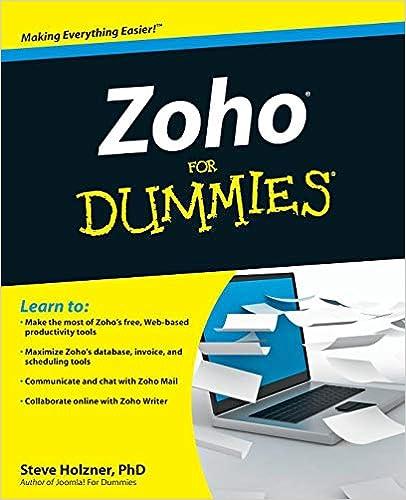 Zoho For Dummies: Steve Holzner: 9780470484548: Amazon com