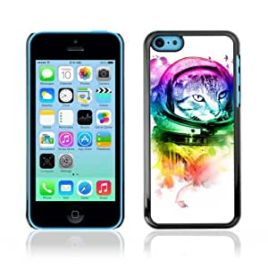 Designer Depo Hard Protection Case for Samsung Galaxy Note 3 N9000 / Neon Astronaut Kitty