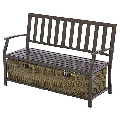 BS Porch Storage Bench Patio Veranda Loveseat with Storage W