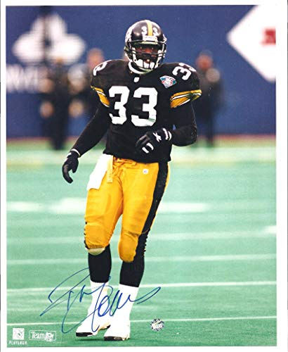 BYRON BAM MORRIS 1994 Signature Rookies 8 x 10 AUTOGRAPH Rookie Photo RC 3000 Made! w/COA Pittsburgh Steelers Football