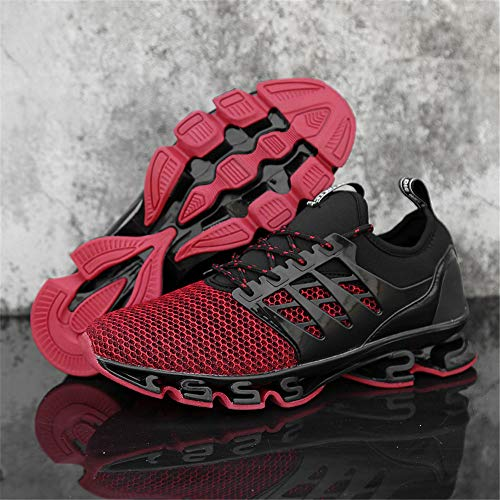 dwwb Chaussures De Casual Lgres Course Sports Jogging Hommes Mesh Respirant Gym Marche Mode Red Watelves Athletic Baskets q4tcaRn