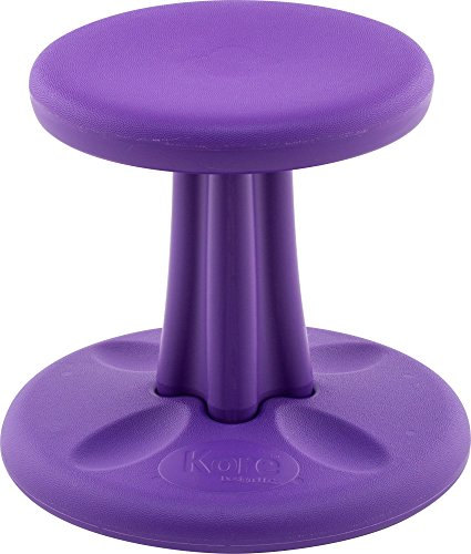 Price comparison product image Kore Patented Wobble Chair Now with Antimicrobial Protection Stem Flexible Seating Made in The USA - Active Sitting for Kids - Preschool,  Purple (12in)